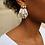 Thumbnail: Boucles d'oreilles BAHIA blanches