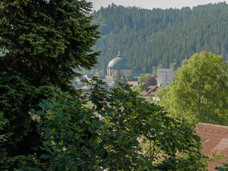 Aussicht vom Balkon zum Dom St. Blasien