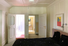 black and white room at second floor