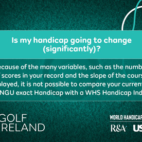 More information on the World Handicap System