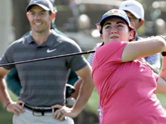 Saoirse Lambe tees it up with Rory McIlroy and Niall Horan in Dubai