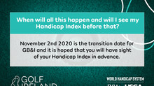 THE NEW HANDICAP SYSTEM STARTS ON MONDAY 2ND NOV 2020