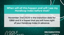 THE NEW HANDICAP SYSTEM STARTS ON MONDAY 2ND NOV 2020
