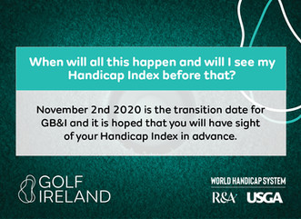 New world Handicap System is coming!