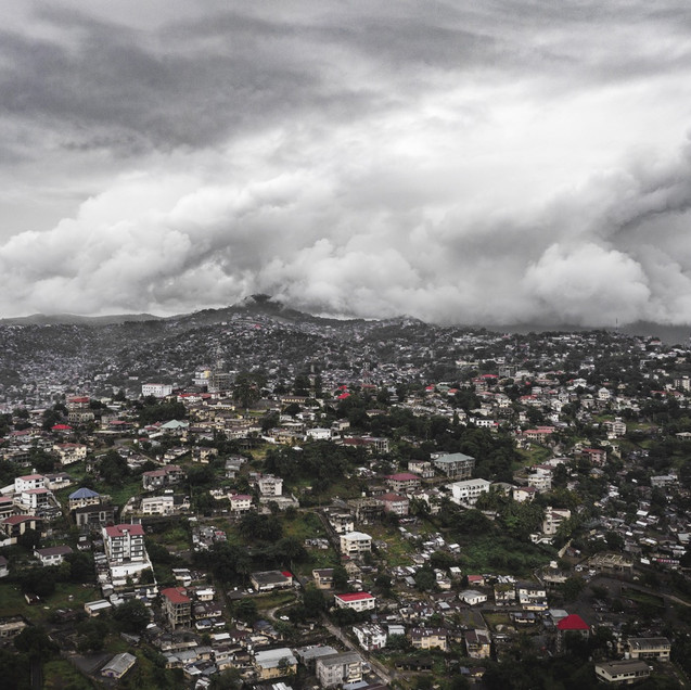 A heavily overcast day In Freetown