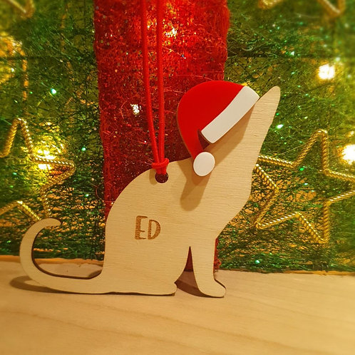 Personalised Cat Decoration E