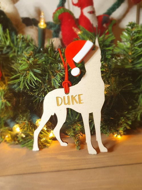 Great Dane Personalised Decoration