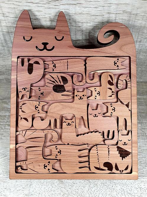 Cat Puzzle Aromatic Cedar
