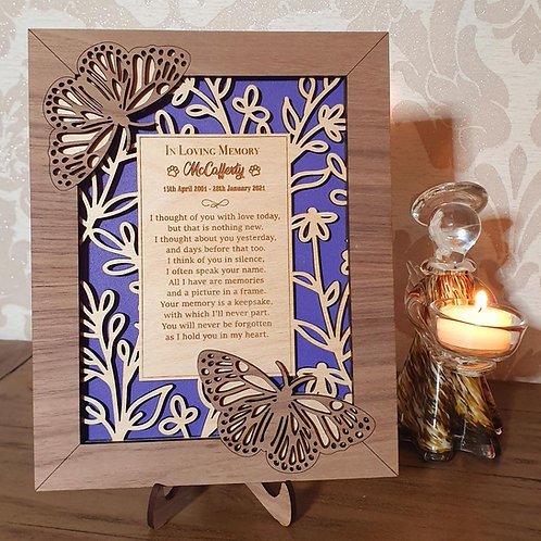 Remembrance Frame - Butterfly