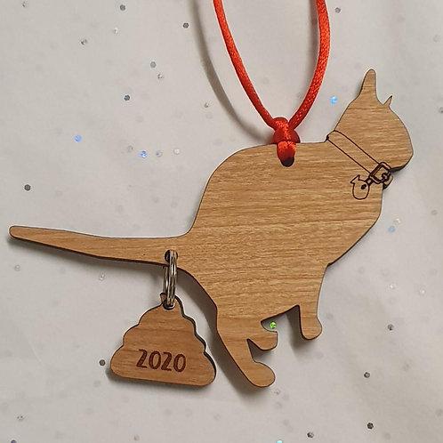 Pooping Cat Ornament 2020