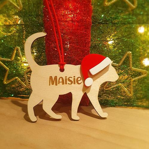 Personalised Cat Decoration F