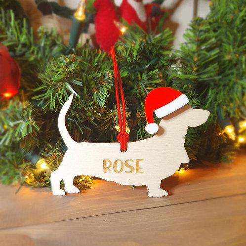 Basset Hound Personalised Decoration