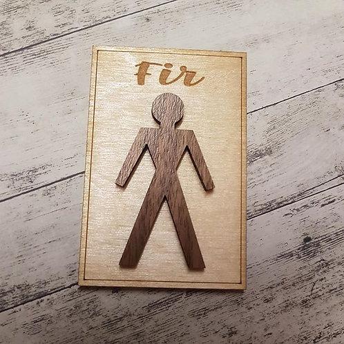 Fir Fridge Magnet (5 x 7.5 cm)