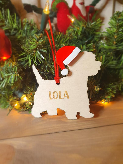 Westie Personalised Decoration