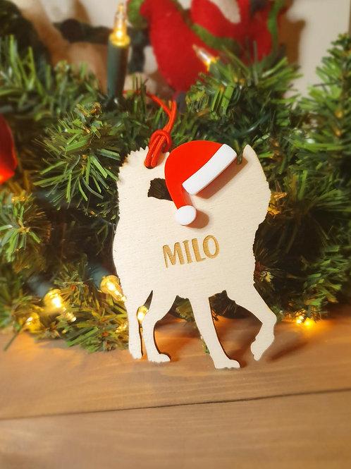 Huskey Personalised Decoration