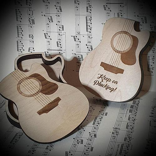 Guitar Shape Plectrum Holder/Trinket Box