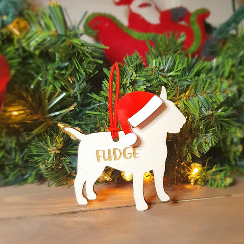 English Bull Terrier Personalised Decoration