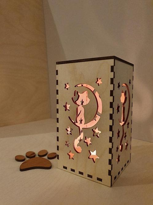 Moon Cat Shadow Box (medium)
