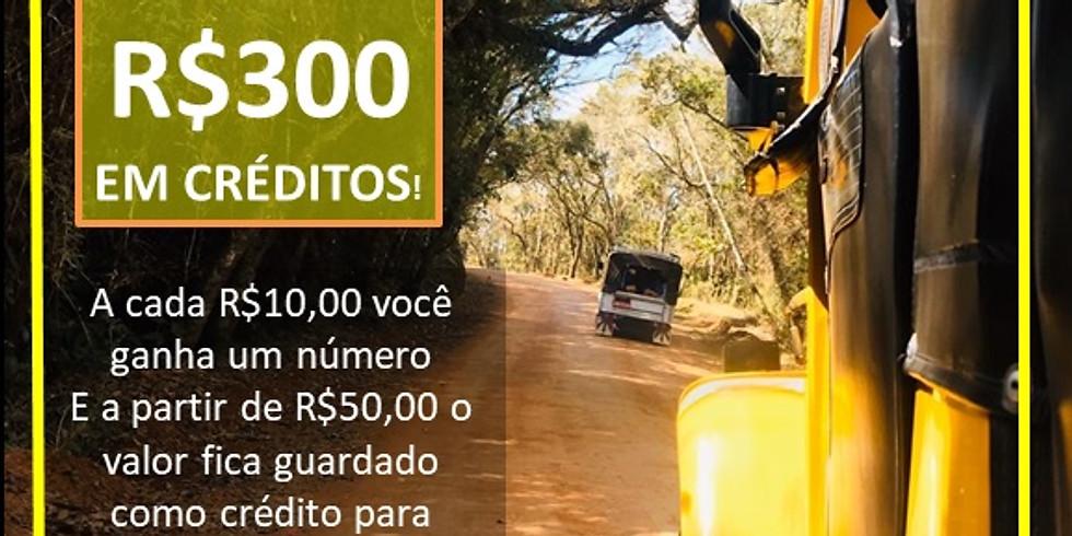 Concorra a R$300 em créditos de viagens (rifa e programa de créditos)