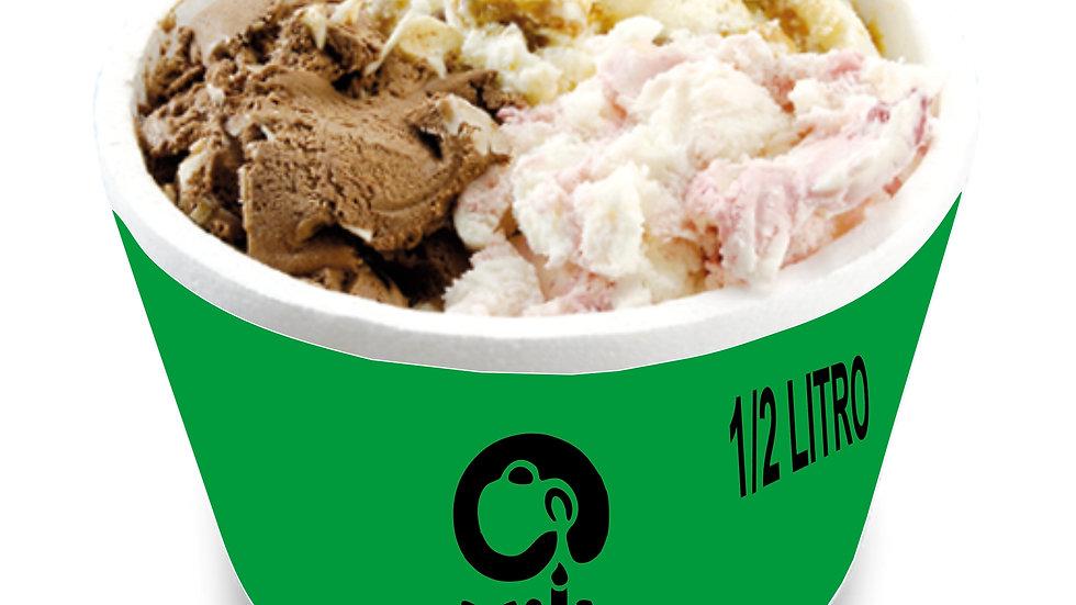 1/2 litro de gelato con leche