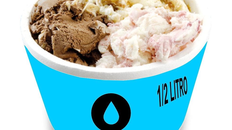 1/2 litro de gelato con agua