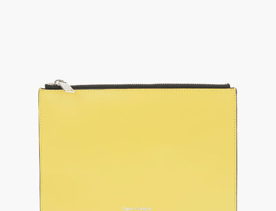 MAISON MARGIELA MM11 LEATHER WALLET WITH ZIP CLOSURE