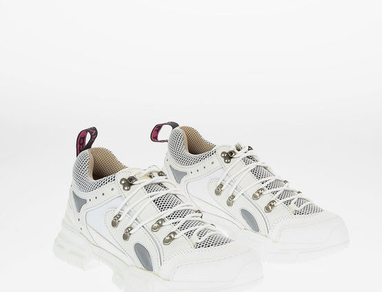 GUCCI FABRIC AND LEATHER JOURNEY SNEAKERS