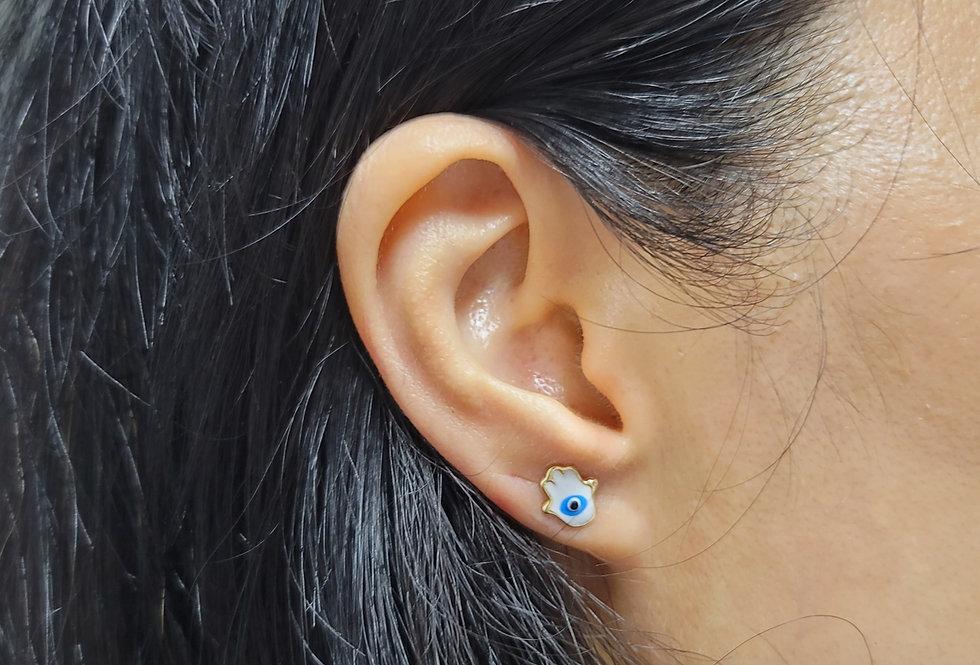 18KT GoldPalm Earrings
