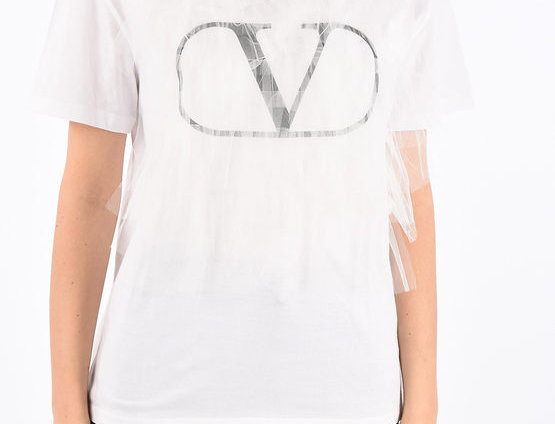 VALENTINO TULLE DETAILS T-SHIRT