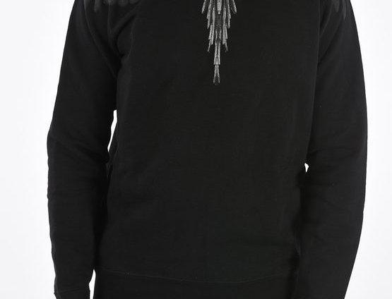 MARCELO BURLON PRINTED CREW-NECK SWEATSHIRT