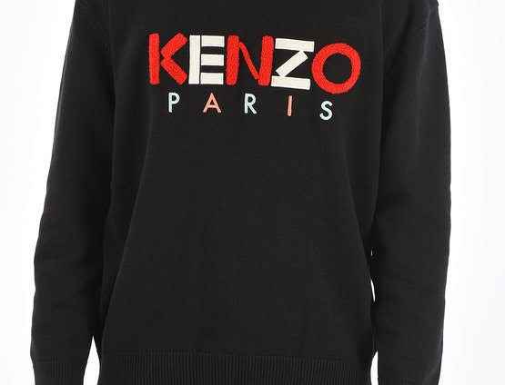 KENZO EMBROIDERED CREW-NECK SWEATER