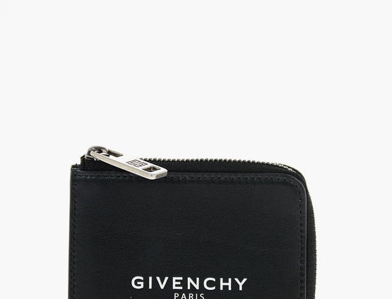 GIVENCHY PRINTED LOGO LEATHER CARD HOLDER