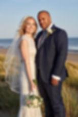 Sarah&Eddie - Bride & Groom on beach