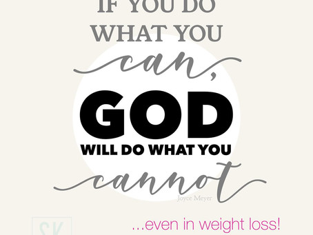 How GOD can help you lose weight.
