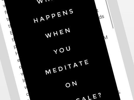 the scale: what happens when you meditate on it?