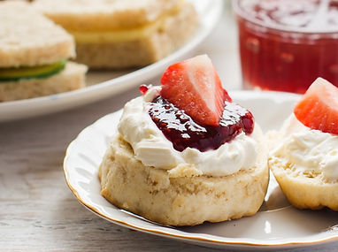 Traditional English afternoon tea_ scone