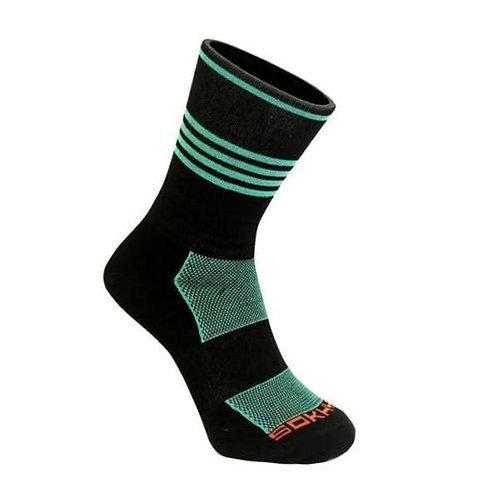 SOKHYTE Black/Celeste Tall Socks