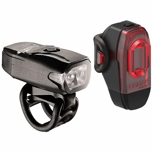 Lezyne KTV Drive 200lm Front 10lm Rear USB LED Light Set Black