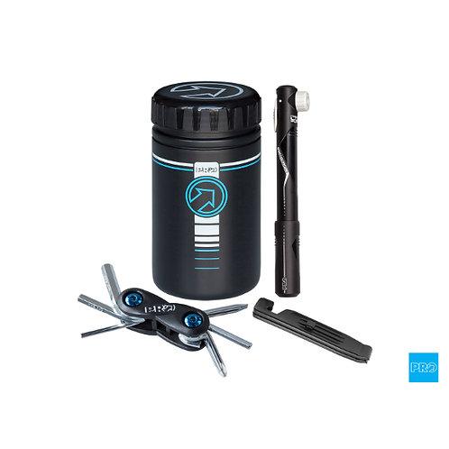 PRO Combipack - Storage Bottle w/mini pump, tool, tyre levers