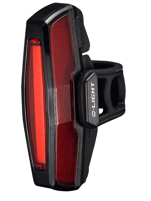 D light Rechargeable super bright rear light 10 lumens.
