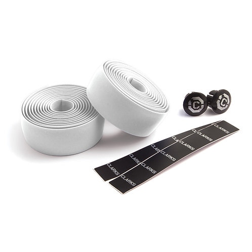Clarks  White Silicone Bar Tape with plugs
