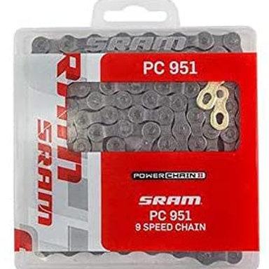 Sram Power Chain II, PC 951, 9 Speed Chain, 114 Links.