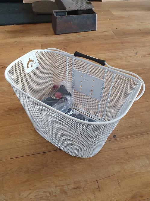 Front handlebar basket white