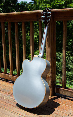 Metallic Silver Archtop Back