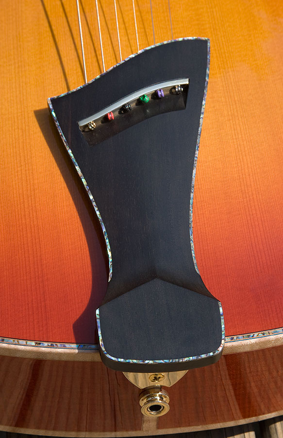 Ebony Tailpiece with Abalone Trim