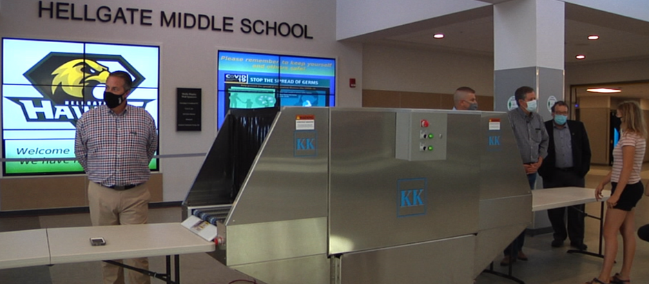 Missoula company makes UV light machine to sanitize everyday essentials, wants machine in schools
