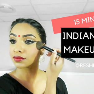 15 Minute Indian Dance Make Up