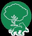 logo paisaje forestal maderable y no madera jaguar y árbol