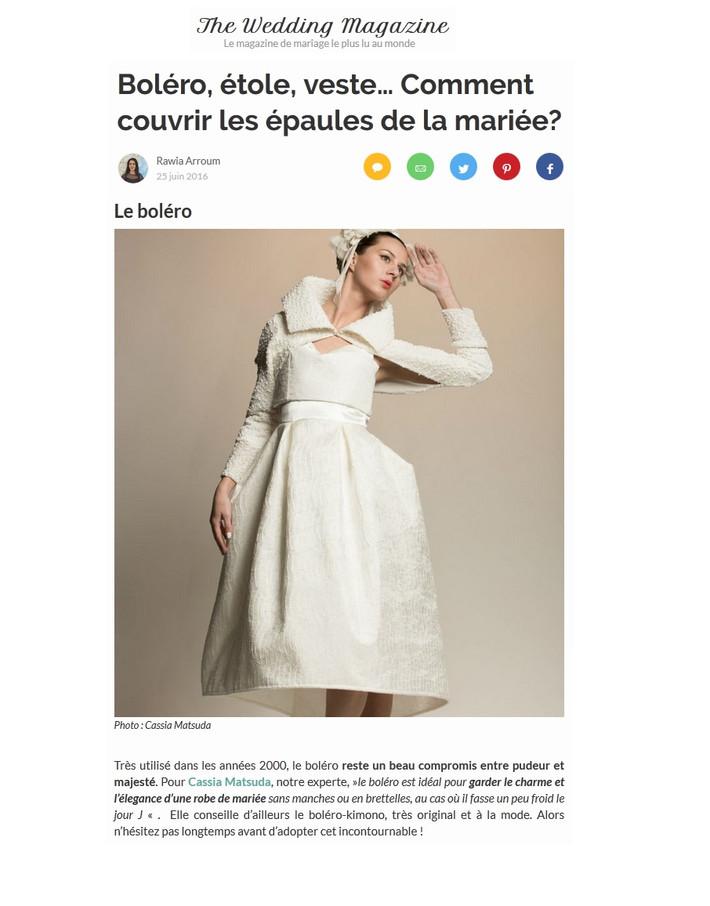 Boléro, étole, veste… Comment couvrir les épaules de la mariée?