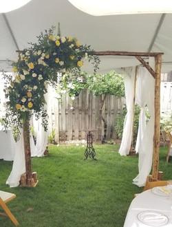 Yellow intimate Wedding